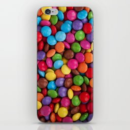 Button-Shaped Candy - Purple Pink Orange Green iPhone Skin