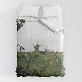 line of windmills Comforters