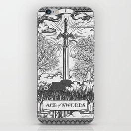 Legend of Zelda Master Sword Vintage Tarot Scene iPhone Skin