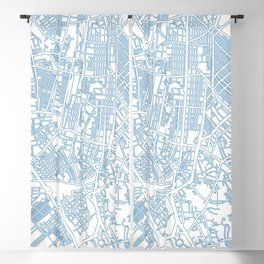 Street MAP Manila // Blue Blackout Curtain