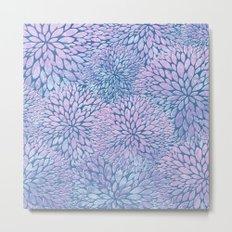 Frozen Petals Metal Print