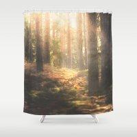 sleep Shower Curtains featuring When rainbows sleep by HappyMelvin
