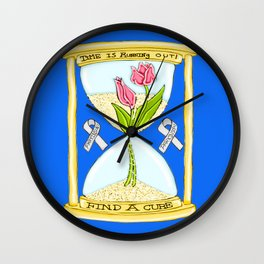 Parkinson's Find a Cure Wall Clock