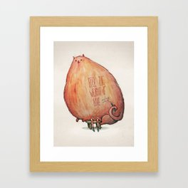 The Weight of Love Framed Art Print