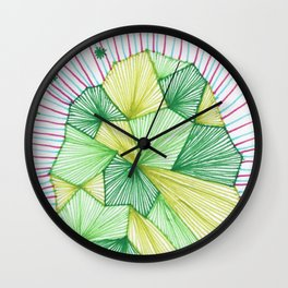 Abstract microscope element Wall Clock