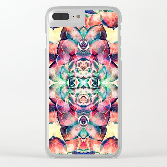Succulents Abstract Clear iPhone Case