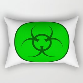 Bio Hazard Symbol Rectangular Pillow