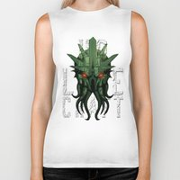 lovecraft Biker Tanks featuring H.P. Lovecraft by MikeRush