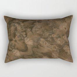 Walnut Burl Wood Rectangular Pillow