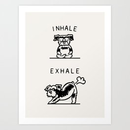 Inhale Exhale Schnauzer Art Print