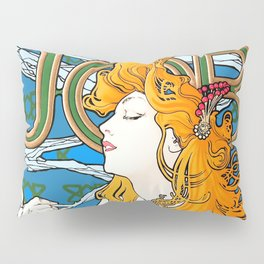 "Alphonse Mucha ""Job"" Pillow Sham"