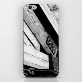 Wood and Steel iPhone Skin