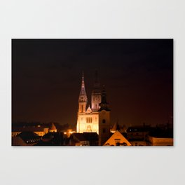 Zagreb Cathedral Canvas Print