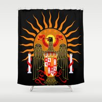 spanish Shower Curtains featuring Spanish Blazon by Trippin Up