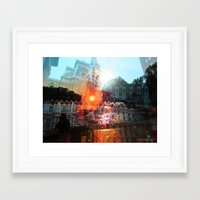 cities Framed Art Prints featuring cities by aerart
