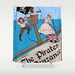 Pirates of Penzance Poster Shower Curtain