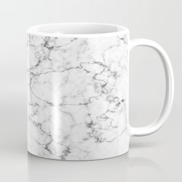 Marble White and Gray Texture Abstract Photography Design Coffee Mug