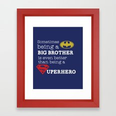 SUPERHERO BROTHER Framed Art Print