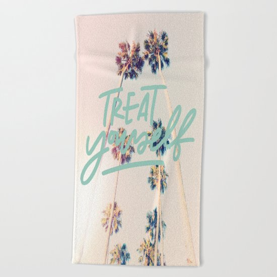 Treat Yourself Beach Towel