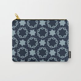 Hexagon Stars Texture Drawn Starry Ornament Carry-All Pouch