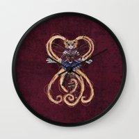 "sailormoon Wall Clocks featuring Steampunk Sailormoon by Barbora ""Mad Alice"" Urbankova"