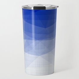 Imperial Lapis Lazuli - Triangles Minimalism Geometry Travel Mug