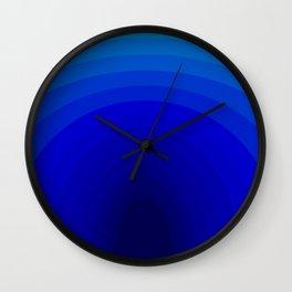 Blue Depths Wall Clock