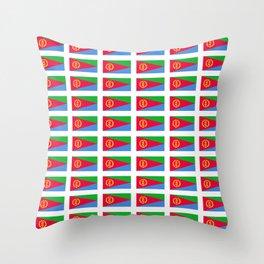 flag of Eritrea -ertirean, ኤርትራ ,إرتريا ,punt,Saba,asmara Throw Pillow