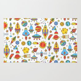Outer space cosmos pattern Rug