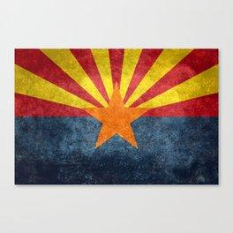 State flag of Arizona in Vintage Grunge Canvas Print
