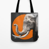 eric fan Tote Bags featuring Wild 6 by Eric Fan & Garima Dhawan by Garima Dhawan