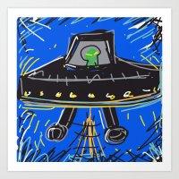 ufo Art Prints featuring Ufo by Rimadi
