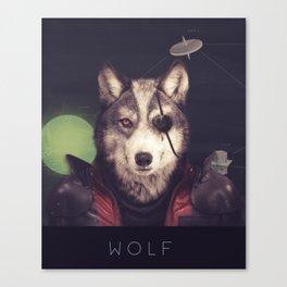 Star Team - Wolf Canvas Print