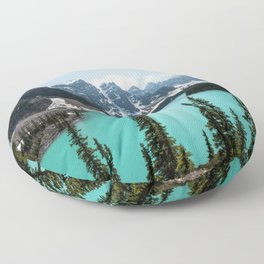 Moraine Lake Landscape Photography Floor Pillow