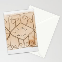 Live yours dreams - custard cream Stationery Cards