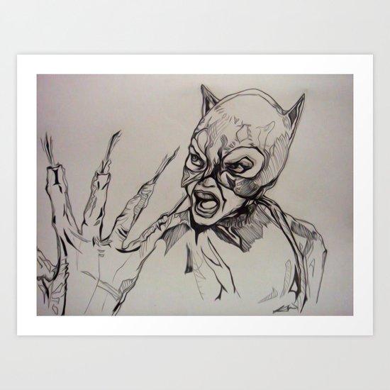 SELINA KYLE ~ ULTRA 'EGO Art Print