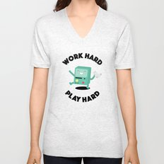 Work Hard, Play BMO Unisex V-Neck