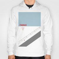 fargo Hoodies featuring Fargo minimalist poster by cinemaminimalist