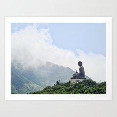 Buddha in The Mist Art Print