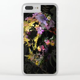 Spring Skull Clear iPhone Case