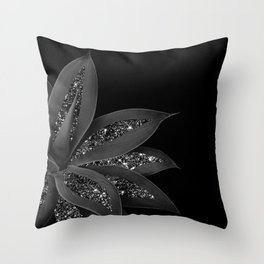 Agave Finesse Glitter Glam #7 #tropical #decor #art #society6 Throw Pillow