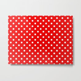 Girls just wanna have dots - red/white Metal Print