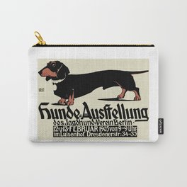 1905 German Dog Show Dachshund Poster Carry-All Pouch