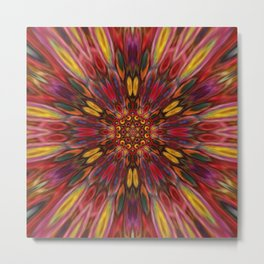 Multicolour Starburst 10 Metal Print