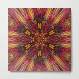 Multicolour Starburst 10 Metal Print