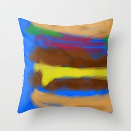Double Bypass with Cheese Throw Pillow