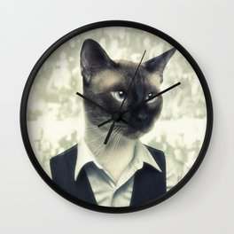 Fancy Cat Wall Clock