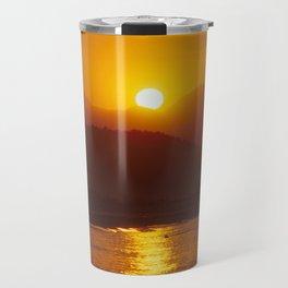 Beautiful Sunset - Red #2 Travel Mug