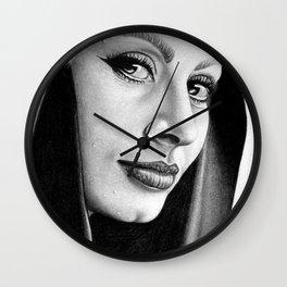 Sophia Loren Drawing By Faten  Wall Clock