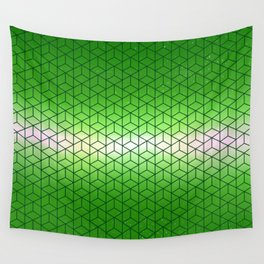 Green Geometric sky pattern Wall Tapestry